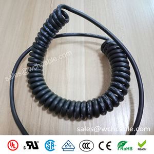 9 Cores Low Smoke Zero Halogen TPU Sheathed Spring Spiral Cable